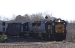 CSX 8597 leads an all-EMD lashup on train Q484