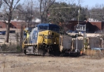 CSX 150 leads train Q676 towards the yard