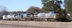 CSX 7834 leads train F768 towards the yard