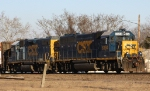 CSX 6394 leads train F720 out of the yard late in the afternoon