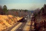 CSX 8218 leads a coal train