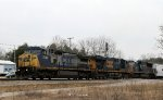 CSX 7844 leads train Q491-10 southbound