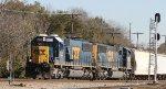CSX 8523 leads train Q769-11 westbound