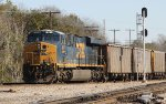 CSX 901 is a DPU on train U341-04, which is backing out of the yard