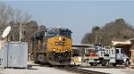 CSX 927 leads train U341-04 eastbound across the diamonds