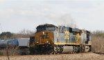 CSX 850 leads train Q477-17 towards the yard