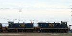 CSX 1208 & 1103 push train Y129 towards the receiving yard