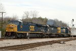 CSX 255 leads train Q463 southbound