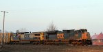 CSX 4850 leads train Q439 towards the yard early in the morning
