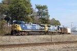 CSX 111 leads train F769-18 westbound
