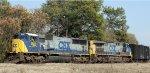 CSX 4559 & 292 lead train Q619 westbound