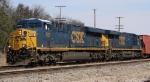 CSX 803 & 762 lead train Q463 out of Hamlet Yard