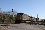CSX 934 leads train L463-21 across Hamlet Avenue