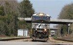 NS 8022 leads train F701 across Raleigh Street
