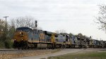 CSX 798 leads 5 other CSX locos on train Q438-25