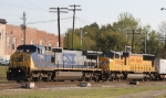 CSX 7789 & UP 3993 back train W871 into the yard