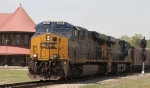 CSX 882 leads train U355-03 across the diamonds