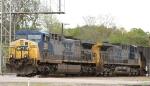CSX 289 & 42 lead train Q697-08 westbound