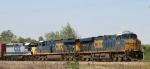 CSX 5343 leads train Q401-08 towards the yard