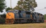 CSX 4793 leads train Q675-25 westbound