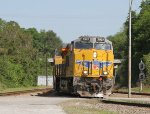UP 7937 leads CSX train S614-24 towards the yard