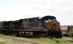 CSX 5500 leads train Q619-26 westbound