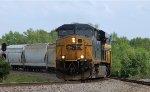 CSX 5451 leads train Q477-28 towards the yard