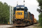 CSX 2285 is on the point of a work train at East Jct.