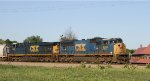 CSX 4798 leads train Q471 towards the yard