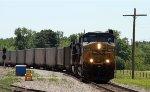 CSX 764 leads an empty coal train