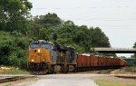 CSX 978 leads train W075-14 eastbound