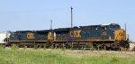 CSX 859 leads train Q471-24 towards the yard