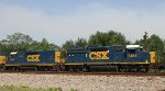 CSX 2237 & 6466 head south on Q463