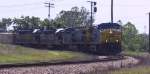 CSX 339 leads another GE and a pair of freshly repainted GP40-2's
