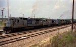 CSX 7500 leads a train towards the north yard