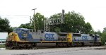 CSX 445 & 4573 lead train E145-14 southbound