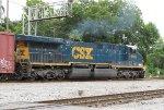 CSX 669 pushes its train around the wye