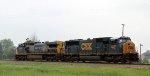 CSX 4545 & 9015 are train X091-05