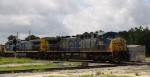 CSX 289 leads train Q776 westbound across the diamonds