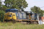 CSX 107 leads train Q667 westbound out of the yard