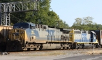 CSX 95 & 6071 lead train Q699 out of Hamlet yard