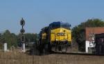 CSX 667 leads a train eastbound