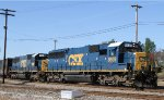 CSX 8639 & 2498 lead train Q618  towards the yard