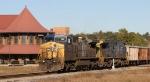 CSX 9031 leads train Q776 across the diamonds