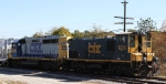 CSX 1236 & 6244 on train Y122 work an industry near the yard