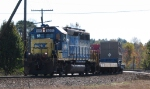 CSX 6095 leads a special train into Hamlet Yard