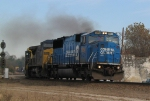 CSX 8754 leads other CSX units eastbound