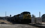 CSX 509 & 506 lead an empty coal train across the diamonds