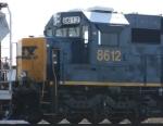 CSX 8612 is designated as an SD50-3