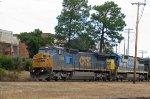 CSX 7926 & 7525 lead a train westbound